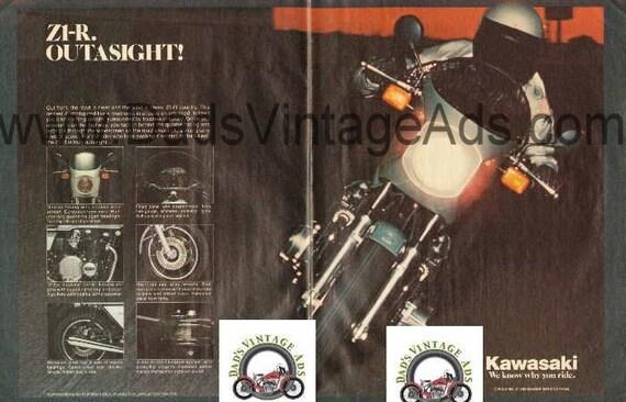 1978 Kawasaki Z1-R Vintage 2-Page Motorcycle Ad #e77la13