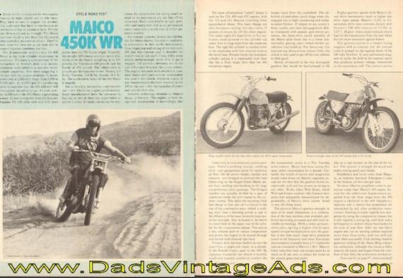 1973 Maico 450K WR Road Test #e73ka07