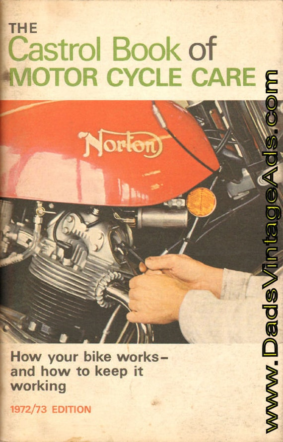 1972-1973 Castrol Book of Motorcycle Care #mm88