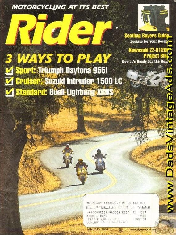 2003 January Rider Motorcycle Magazine Back-Issue #0301rdr