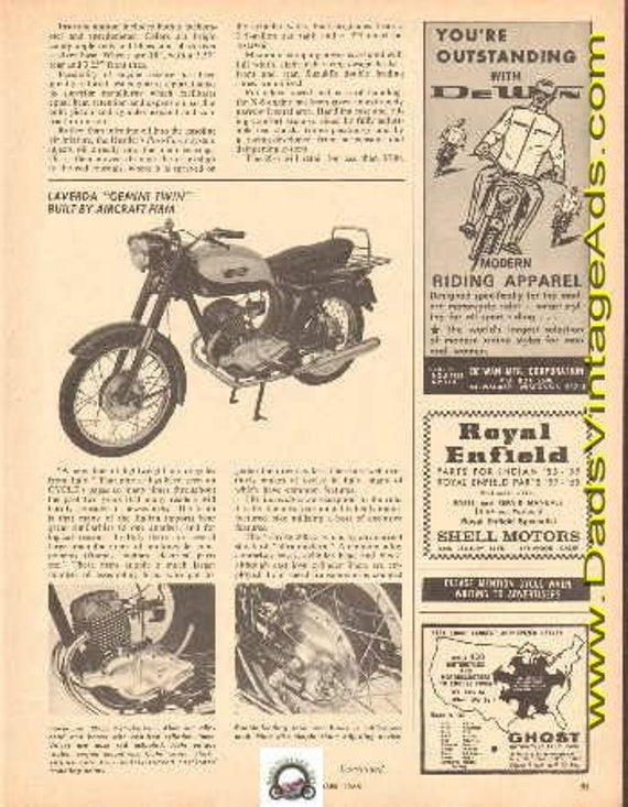 1965 Laverda Gemini Twin built by aircraft firm 2-Page Article #e65ka05