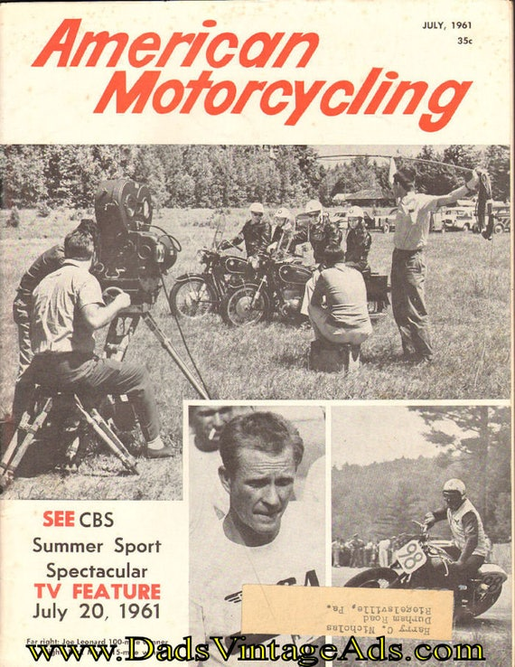 1961 July American Motorcycling Motorcycle Magazine Back-Issue #6107amot
