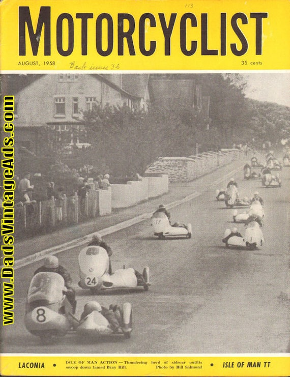 1958 August Motorcyclist Motorcycle Magazine Back-Issue #5808mc