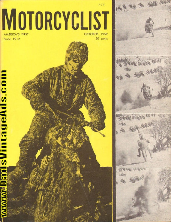 1959 October Motorcyclist Motorcycle Magazine Back-Issue #5910mc