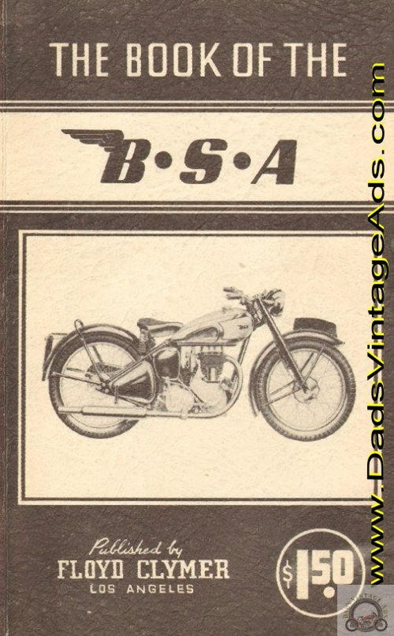 1947 Book of the BSA by W.C. Haycraft, published by Floyd Clymer #mb278