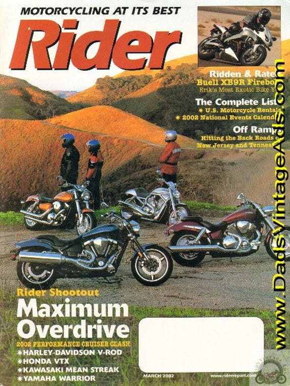 2002 March Rider Motorcycle Magazine Back-Issue #0203rdr