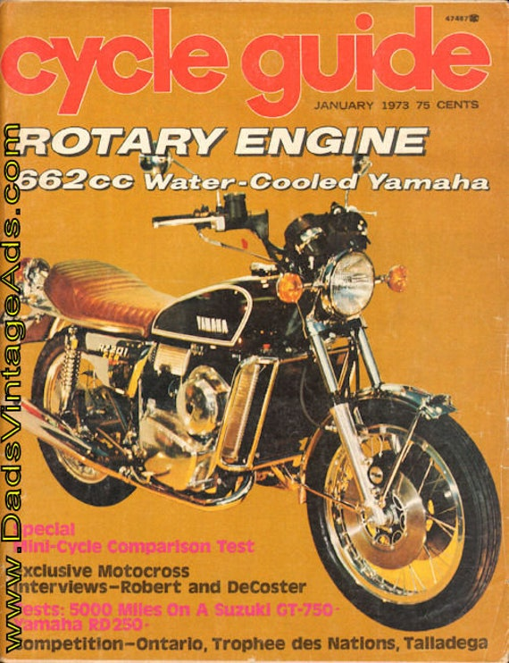 1973 January Cycle Guide Motorcycle Magazine Back-Issue #7301cg