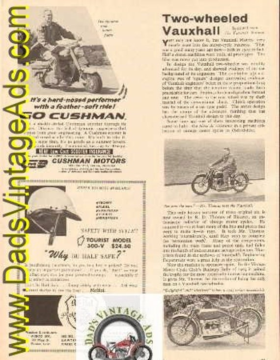 1960 Article: 1924 Two-wheeled Vauxhall - very rare motorcycle - 1 Column Article #e60ia09