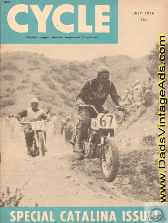 1956 July Cycle Motorcycle Magazine Back-Issue #5607cyc