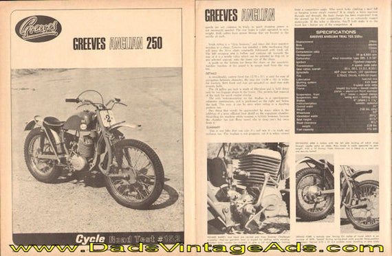 1966 Greeves Anglian 250 Motorcycle Road Test 3-Page Article #e66ea13