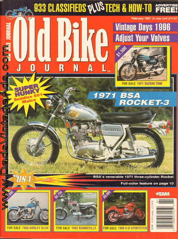 1997 February Old Bike Journal #81 Motorcycle Magazine Back-Issue #970114obj
