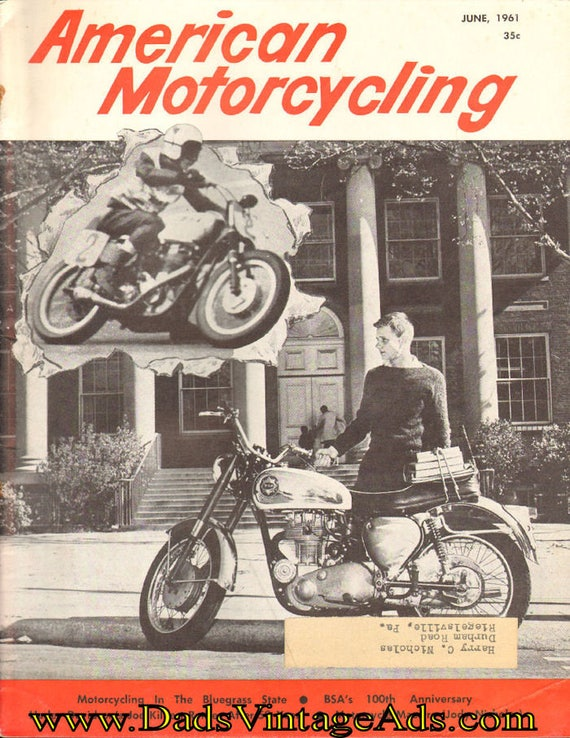 1961 June American Motorcycling Motorcycle Magazine Back-Issue #6106amot