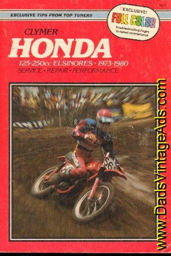 1973 -1980 Honda 125-250cc Elsinores Clymer Service Repair Manual #mm37