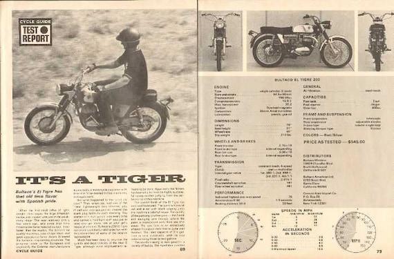 1969 Bultaco El Tigre 200 Motorcycle Road Test 5-Page Photo Article #nbd05