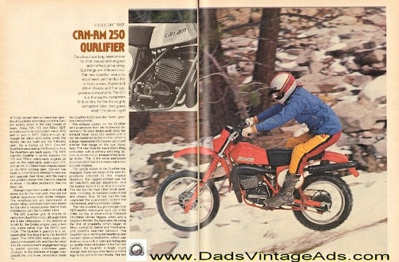 1979 Can-Am 250 Qualifier Dirt / Road Test 8-Page Article #e79ca13