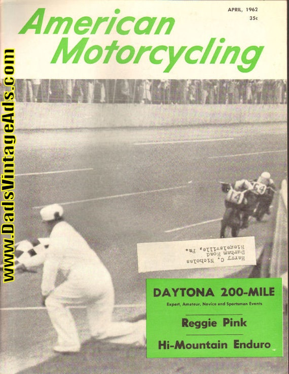 1962 April American Motorcycling Motorcycle Magazine Back-Issue #6204amot