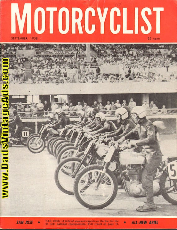1958 September Motorcyclist Motorcycle Magazine Back-Issue #5809mc