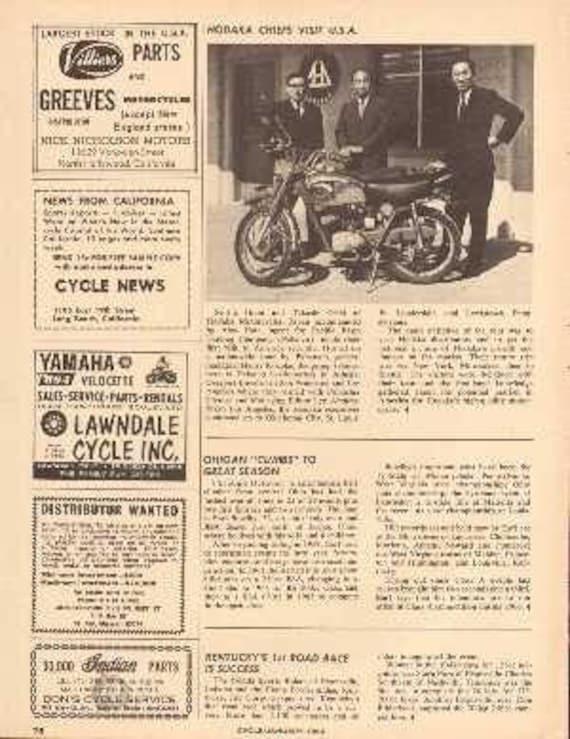 1966 Hodaka Motorcycle Chiefs Visit USA Article #nce02