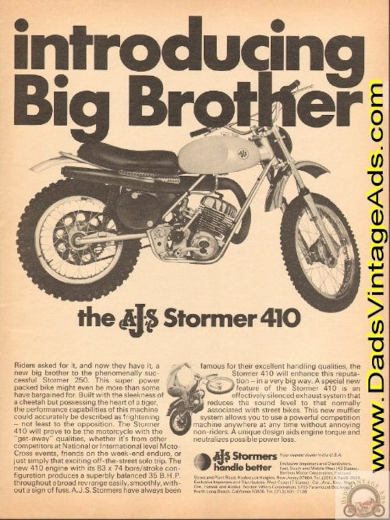 1971 AJS Stormer 410 - Introducing Big Brother Ad #de71ga05