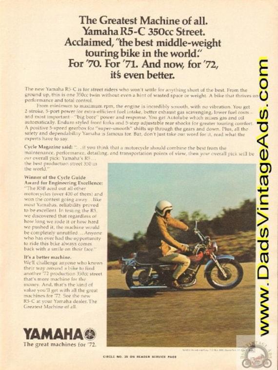 1972 Yamaha R5-C 350cc Street - The Greatest machine of all Vintage Ad #e72ga08