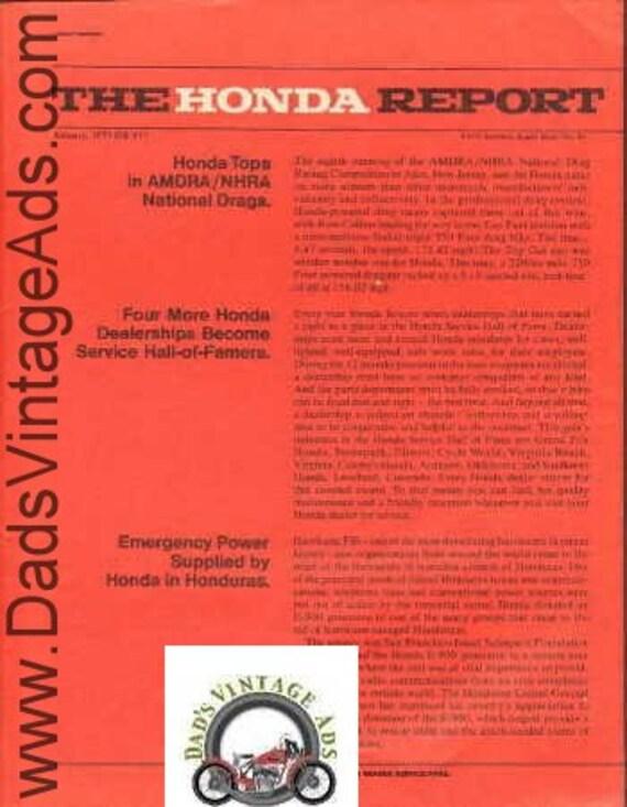1975 Honda Motorcycle Report January #13 AMDRA Drags Ad #E75AA10