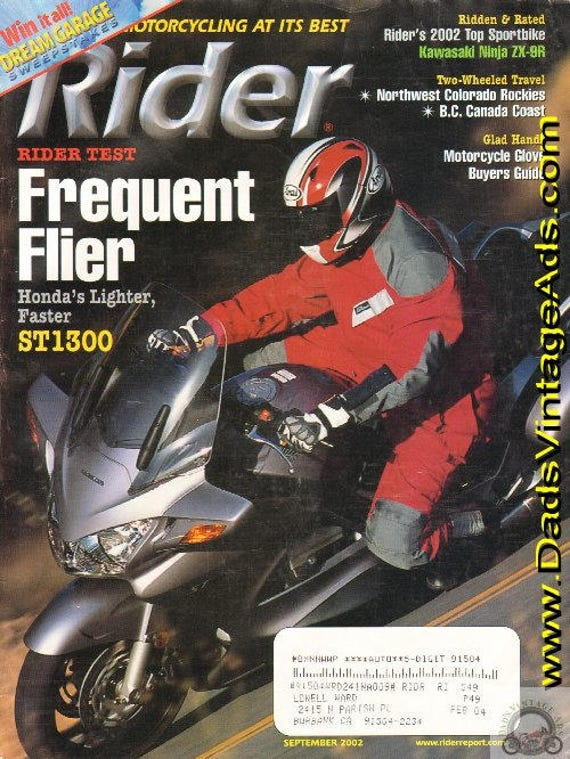 2002 September Rider Motorcycle Magazine Back-Issue #0209rdr