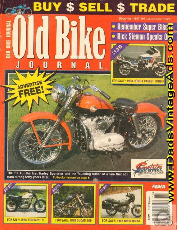 1997 December Old Bike Journal Motorcycle Magazine Back-Issue #9712obj