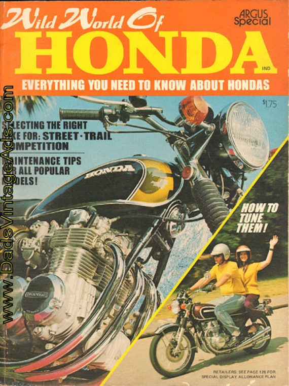 1972 Wild World of Honda Motorcycle Magazine Back-Issue #mb738