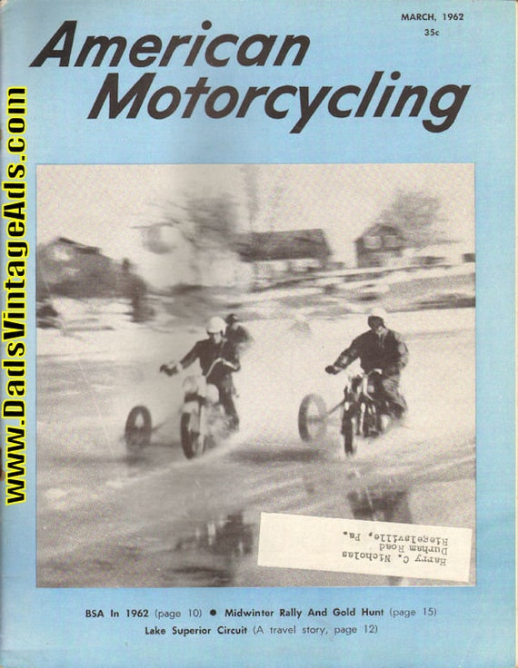 1962 March American Motorcycling Motorcycle Magazine Back-Issue #6203amot
