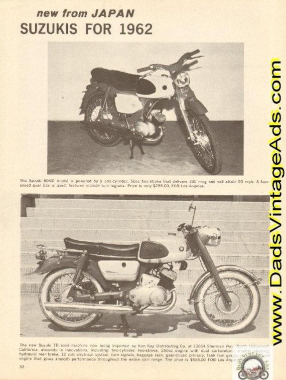 1962 Suzuki 50MC & 250 TB New from Japan Ad #d62ca06