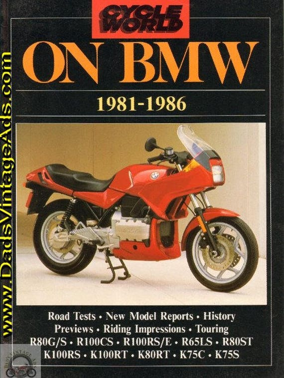 1981-1986 Cycle World on BMW Road Test Compilation Book #mb249