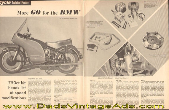 1965 More Go for the BMW - 750cc Kit 3-Page Article #e65ja13