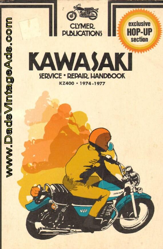 1974-1977 Kawasaki KZ400 Clymer Service Repair Handbook #mb97