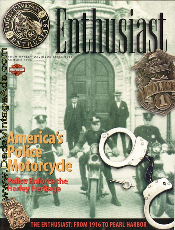 1996 Summer Enthusiast Harley-Davidson Motorcycle Magazine Back-Issue #mb484