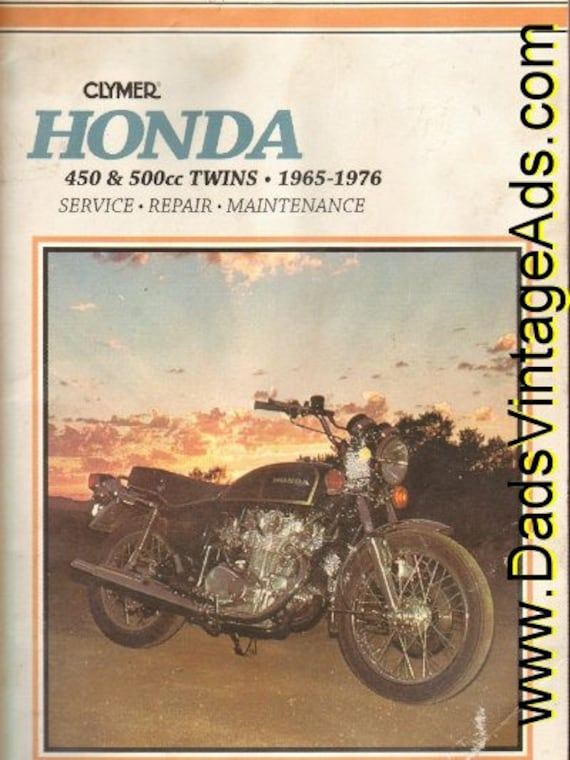 1965-1976 Honda 450 & 550cc Twins Clymer Service Repair Maintenance Manual #mm23