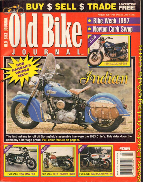 1997 August Old Bike Journal Motorcycle Magazine Back-Issue #9708obj