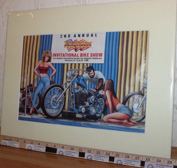 David Mann ''Easyriders 2nd Invitational Bike Show'' 16'' x 20'' Matted Motorcycle Biker Art #9002ezrxmc