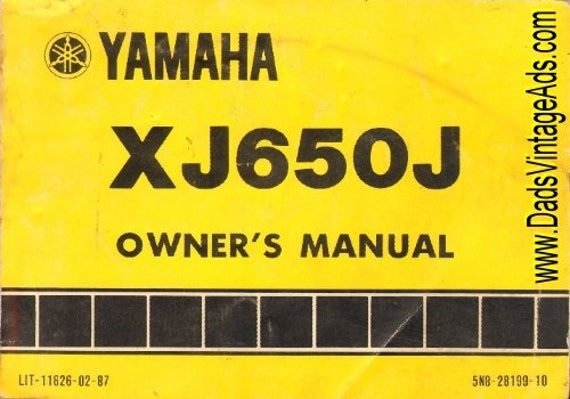 1981 Yamaha XJ650J Motorcycle Owner's Manual #mm16