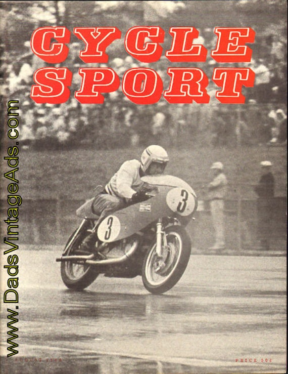 1969 August Cycle Sport Motorcycle Magazine Back-Issue #6908cs