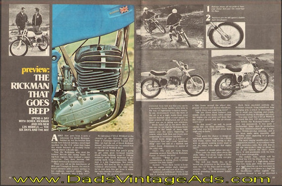 1972 Preview: The Rickman that goes beep. 4-Page Article #d72ha07