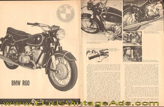 1965 BMW R60 Road Test 3-Page Article #e65ja12