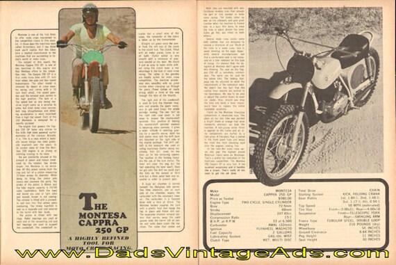 1969 Montesa Cappra 250 GP Road Test 5-Page Article #modc69ia12