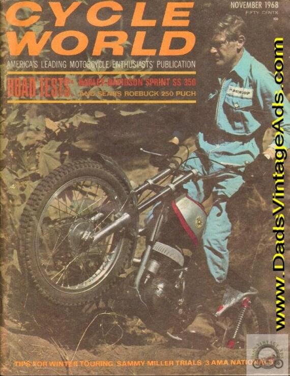1968 November Cycle World Motorcycle Magazine Back-Issue #6811cw
