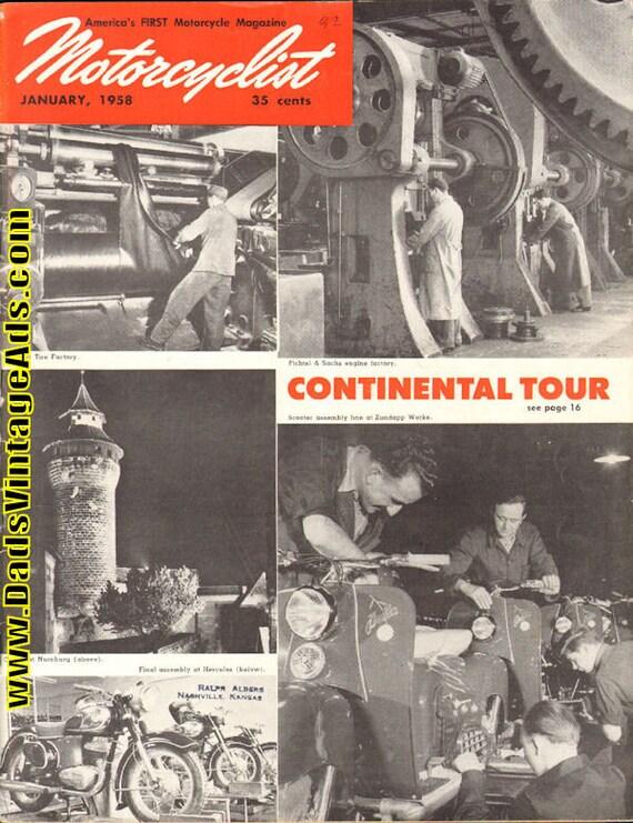 1958 January Motorcyclist Motorcycle Magazine Back-Issue #5801mc