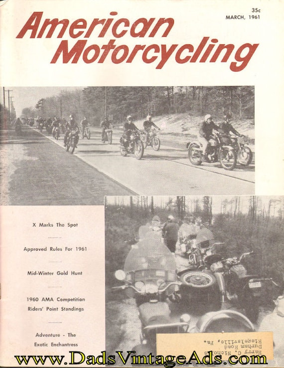 1961 March American Motorcycling Motorcycle Magazine Back-Issue #6103amot