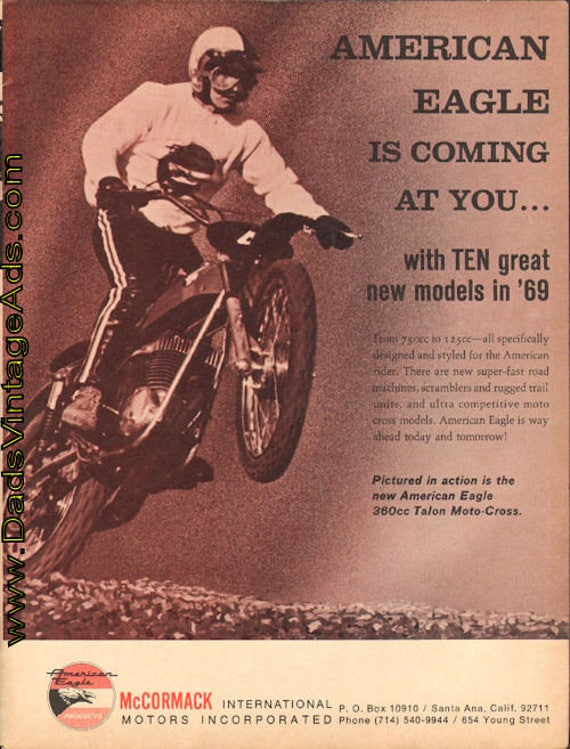 1969 American Eagle 360 Talon Moto-Cross Ad #de69da02