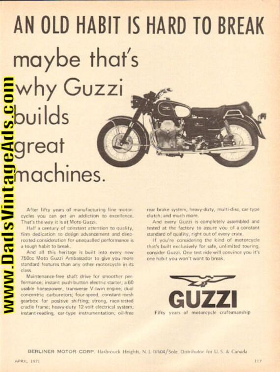 1971 Moto Guzzi 750 Ambassador Motorcycle Ad #d71da10