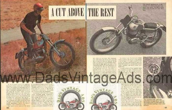 1969 Bultaco Sherpa T Trials Motorcycle Road Test 5-Page Photo Article #nbc04