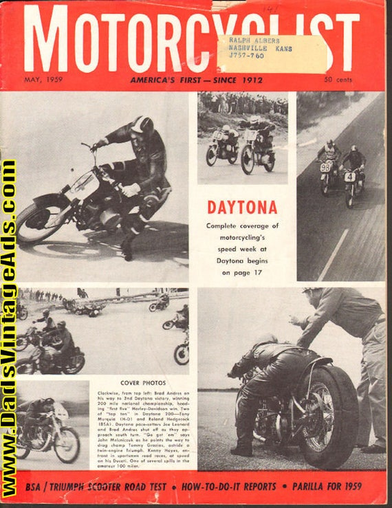 1959 May Motorcyclist Motorcycle Magazine Back-Issue #5905mc