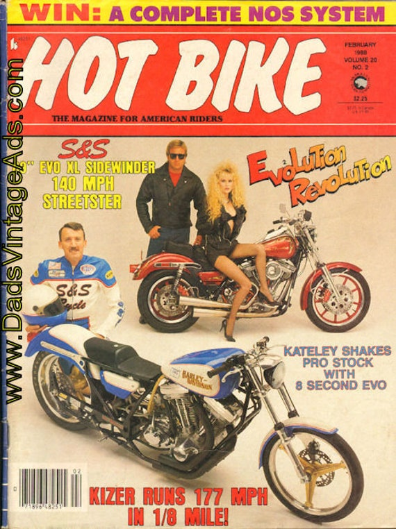 1988 February Hot Bike Motorcycle Magazine Back-Issue #8802hb